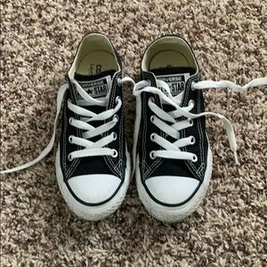 Kids black Converse All Stars sneakers size 13